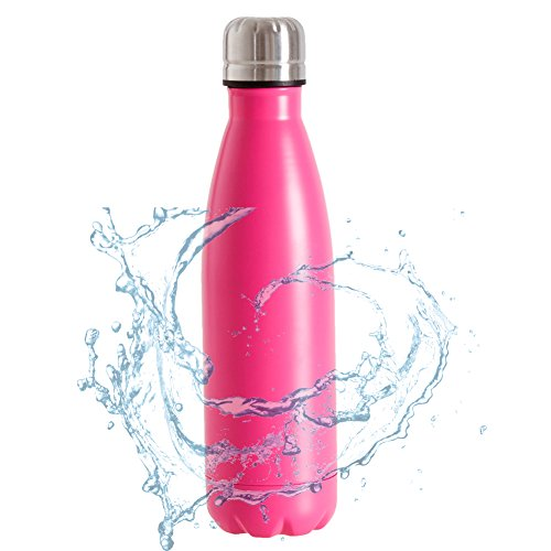 Cola style Water Bottle Top Quality Stainless Steel Water Mug Double Wall Insulated water bottle(350ML(12OZ))