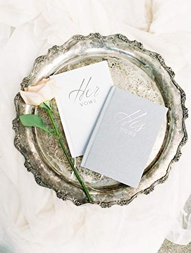 Journal Booklet Vow Renewal FLUYTCO Wedding Vow Book Keepsakes 2 Book Set, His /& Hers Linen Hardcover Future Mrs /& Mr Bonus Wedding Day Cards Bridal Shower Gifts