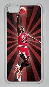michael jordan Custom PC Transparent Case for iPhone 5C by icasepersonalized