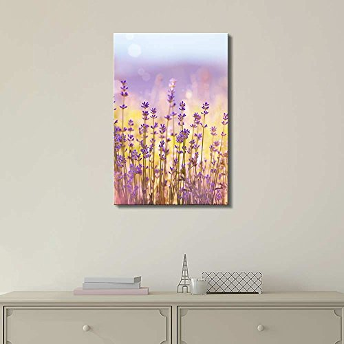 Lavender Flowers Bloom in Summer Time Wall Decor ation