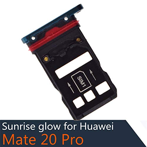 (Dual SIM Card Tray + Micro SD Card Slot with Waterproof Rubber Ring Compatible with Huawei Mate 20 Pro Emerald Green)