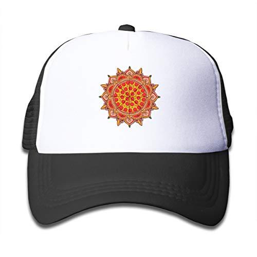 (ONE-HEART HR Sacred Pizza Kid's Baseball Cap Mesh Adjustable Trucker Hat for Boy Girl)