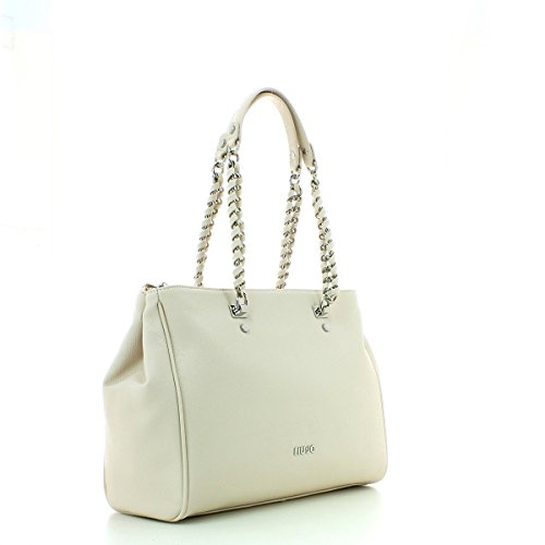 LIU JO ANNA CHAIN SHOPPING BAG E/W A17004E0087 Champagne