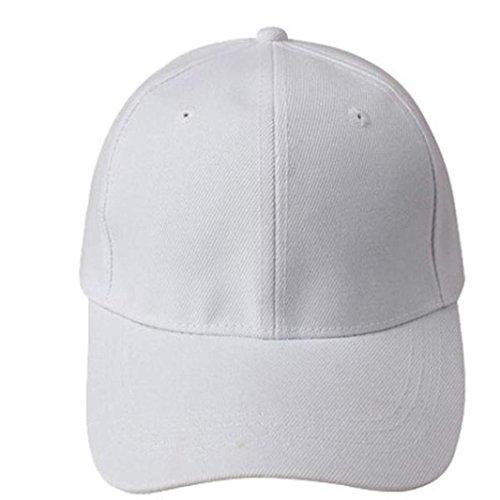 Xinantime Sombrero, Gorra de béisbol en Blanco de Color sólido Ajustable del Sombrero (Blanco): Amazon.es: Deportes y aire libre