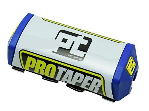Templehorse White Blue Pro Taper Handlebar Pad and Keepitroostin Sticker Fits Yamaha Yz125 Yz250 Yz250f Yz450 2006-2014 (White-Blue)