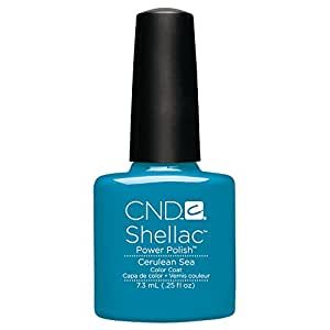 CND Shellac Nail Polish, Cerulean Sea, 0.11 lb.