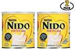 Nestle Nido Powdered Milk Fortificada - Whole Dry Milk Powder for Adult & Kids - Leche Nido en Polvo - Dried Powered Milk in Bulk - BASED BOX Bundle (12.6oz, Pack of 2)