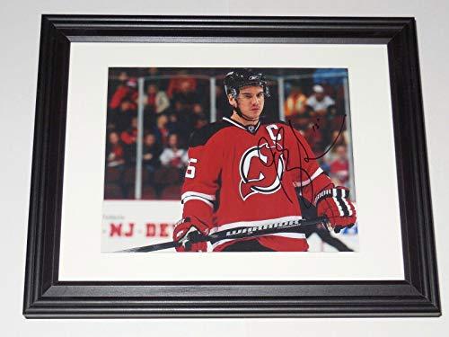 Jamie Langenbrunner Signed Photograph - 8x10 Color framed & Matted) - Nj ! - Autographed NHL Photos