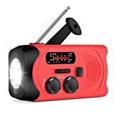 [Upgraded Version] RunningSnail Emergency Weather AM/FM NOAA Solar Powered Wind up Radio with LED Flashlight, 2000mAh Power Bank for Cell Phone and SOS