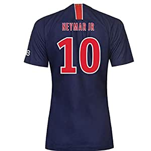 2018-2019 PSG Home Nike Womens Football Soccer T-Shirt Camiseta (Neymar Jr 10)