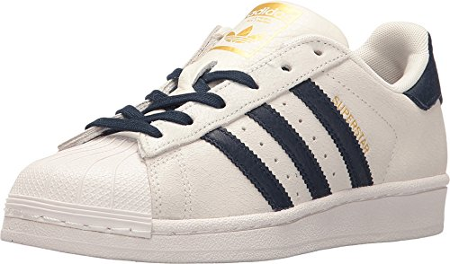 7a87b5cf54ed Galleon - Adidas Originals Kids Unisex Superstar (Big Kid) White Navy Gold  2 4.5 M US Big Kid