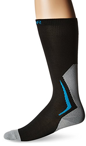 Bauer NG Core Skate Tall Performance Socks, Black, Large