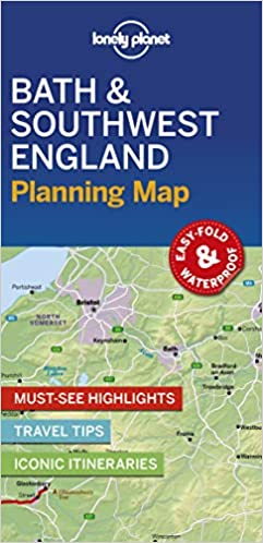 Lonely Planet Bath Southwest England Planning Map Lonely Planet