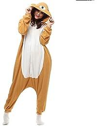 15537e0097 Animal Onesie Adult for Women Men Pajamas Cosplay Sleepwear Bear Costume  Cartoon Outfit …