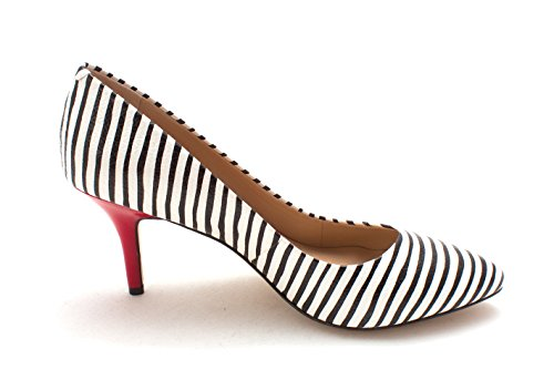 Classic INC Pumps Blk Zitah Concepts Wht Womens International Toe Pointed Stripe rxZwYSrOq