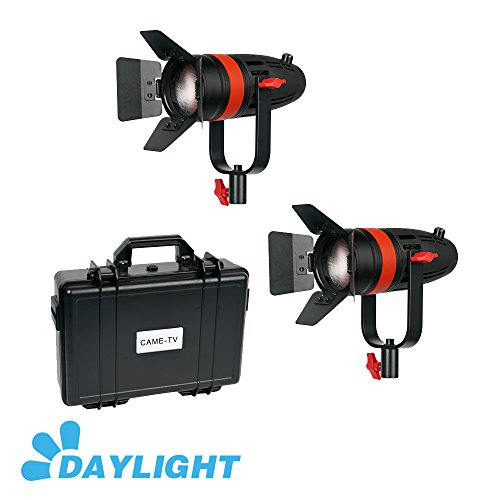 2 Pcs CAME-TV Boltzen 55w Fresnel Focusable LED Daylight Kit by Boltzen