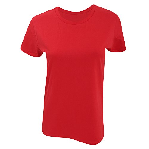 Gildan- Camiseta Premium de algodón para mujer Red