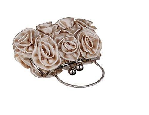 fleur multicolore a en 13 Pochette de Cadeau mariage main pour x 5 l Femme Abricot rose cm soiree No sac 27 satin x zPZXwqZ