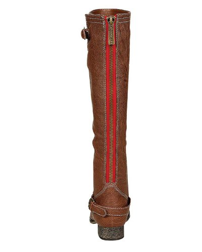 Breckelles Womens Outlaw-81 Knee Boot Premium Tan +