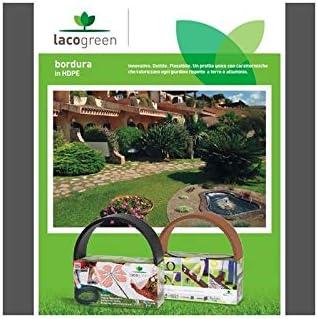 Lacogreen. Kit Bordura de color negro, 5 m, 4 mm. Para decoración de jardín, dúctil, flexible: Amazon.es: Jardín