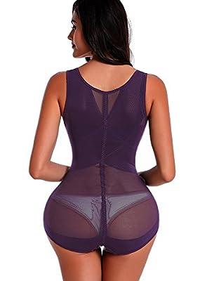 Silky Women Firm Control Shapewear,Comfort Bodysuit Slimming Body Shaper
