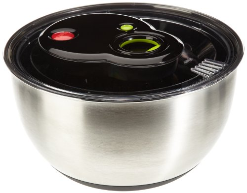 Emsa 513441 Turboline Salad Spinner, Medium, Silver (Salad Steel Steel Stainless Spinner)