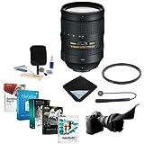 Nikon 28-300mm f/3.5-5.6G ED-IF AF-S NIKKOR VR Vibration Reduction Lens USA Warranty - Bundle with UV Filter, Lens Shade, Lens Wrap, Cleaning Kit, Cap Leash, Pro Software Package