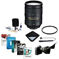 Nikon 28-300mm f/3.5-5.6G ED-IF AF-S NIKKOR VR Vibration Reduction Lens USA Warranty - Bundle with UV Filter, Lens Shade, Lens Wrap, Cleaning Kit, Cap Leash, Pro Software Package