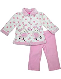 Infant Girls Pink Ballerina Bunny Fleece Coat Jacket Pants