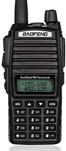 Baofeng UV82 walkie Talkie Mayor Radio de Dos vías UV-82 Portable jamón Doble Banda VHF UHF Familia Receptor portátil Hotel Centro Comercial