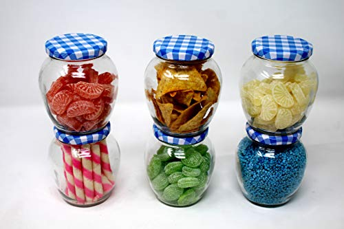 Star Work Matka Glass Jar For Storage Of Spices And Dry