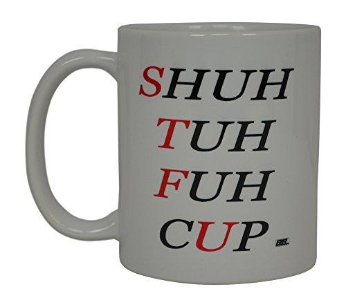 - Best Funny Coffee Mug STFU Sarcastic Novelty Cup Joke Great Gag Gift Idea For Men Women Office Work Adult Humor Employee Boss Coworkers