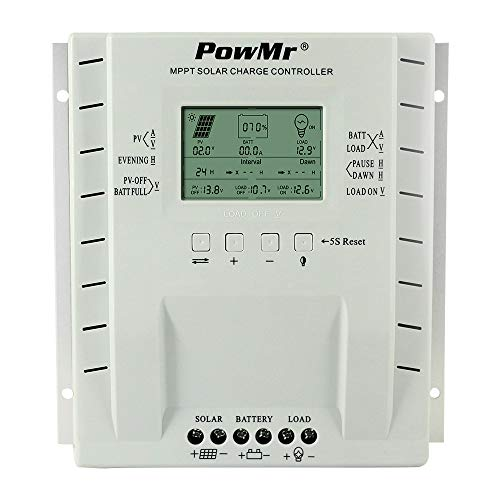 MPPT 60 amp Solar Charge Controller 12V/24V Auto, 60A Solar Panel Charge Regulator Max 100V, 780W/1560W Input, for Lead-Acid Battery Load Timer Setting by PowMr (Image #7)