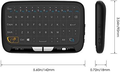 Meerveil H18 Full Touch 2.4GHz Mini Teclado inalámbrico con ratón Touchpad para Windows, Android, Raspberry Pi 3,Chrome y Smart TV,HTPC, IPTV, PC, PS3, Xbox 360: Amazon.es: Electrónica