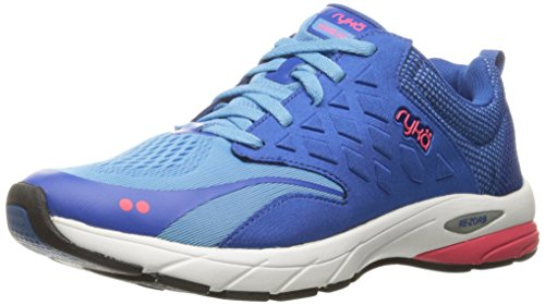 RYKA Women's Knock Out Running Shoe Blue/Coral 1K3DiZnGDF
