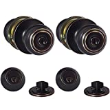 AmazonBasics Entry Knob With Lock and Deadbolt, Classic, Oil Rubbed Bronze, Set of 2