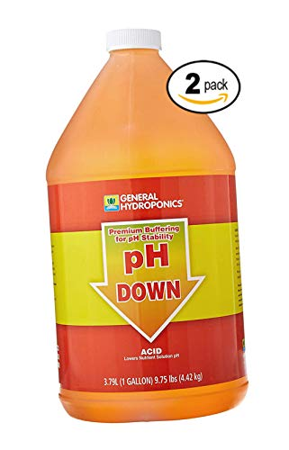 General Hydroponics pH Down Liquid Fertilizer, 1-Gallon (2 Pack) ()