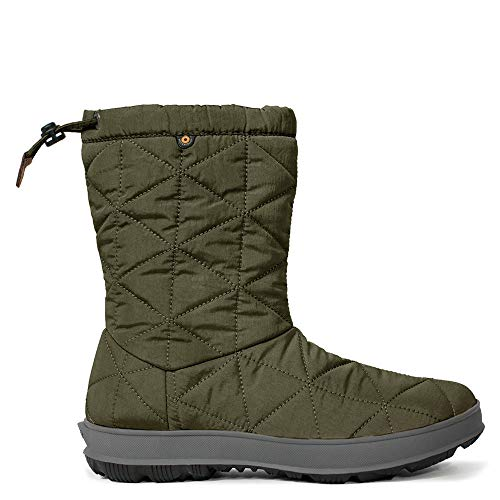Bogs Womens Snowday Mid Snow Boot, Dark Green, Size 6