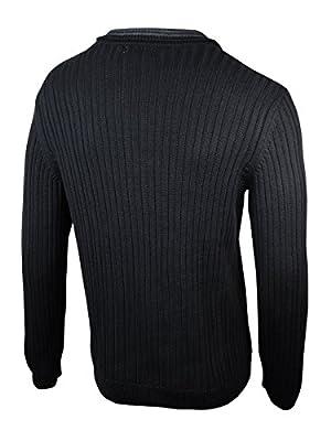 Calvin Klein Ribbed Button Mock-Neck Sweater