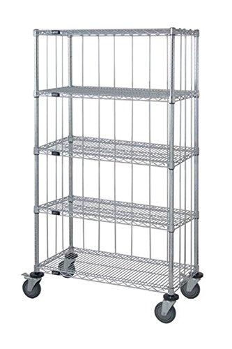 Quantum 3 Sided 5 Wire Shelf Cart 63