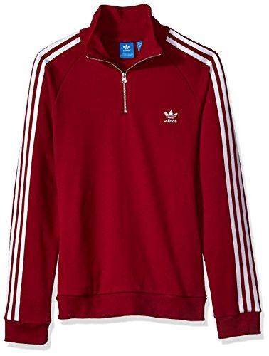 - adidas Originals Women's Outerwear Half Zip Sweatshirt, Collegiate Burgundy, Small
