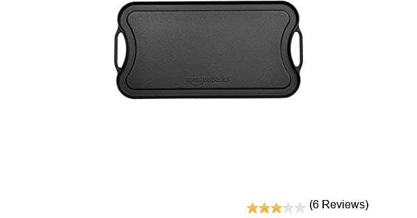 AmazonBasics - Parrilla/plancha reversible de hierro fundido ...