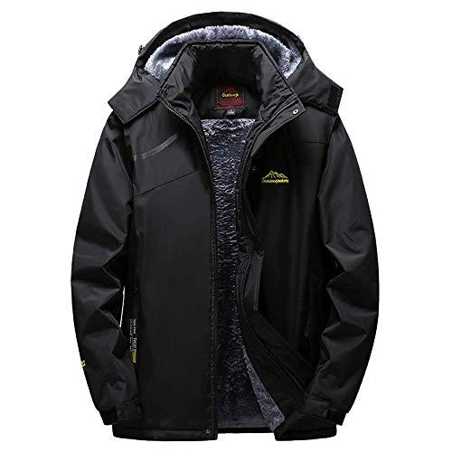 All'aperto Cappotto 5xl Invernale Uomo Nero Zhrui Grigio Cappuccio Cashmere Da Abbigliamento Per L'inverno colore Con Dimensione w61Yxxq4dW