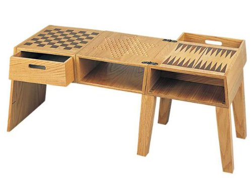 4 in 1 Classic Game Table with Chess, Checkers, & Backgammon