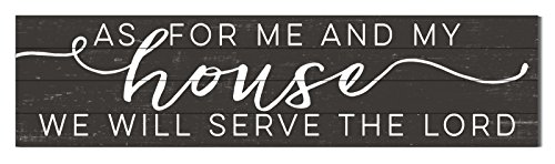"Kindred Hearts 40""x10"" As for Me and My House Shiplap Wall Sign from Kindred Hearts"