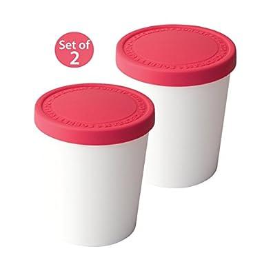 Tovolo Sweet Treats 1 Quart Raspberry Tub, Set of 2