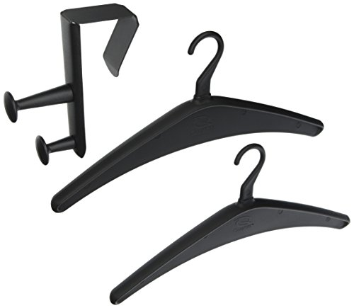 (Quartet Over-the-Panel Hook, 6-7/8 Inch, Double Posts, 2 Hangers Included, Black (20702))