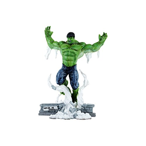 Wowheads Hulk Jump Version  1 8 Scale Small Figurine Statue  Non  Bobblehead  Marvel Disney Avengers  Fragile Resin Made