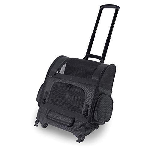 Gen7 Compact Roller Pet Carrier for Dogs and Cats – Compact and Lightweight – Converts to a Backpack