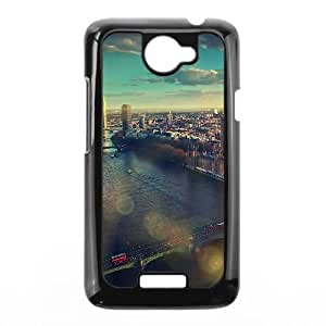 HTC One X Cell Phone Case Black mm24 england london skyview city flare big ben nature LV7913642